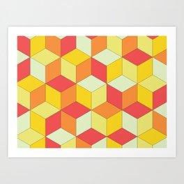 Neo Cubo 2.0 Art Print