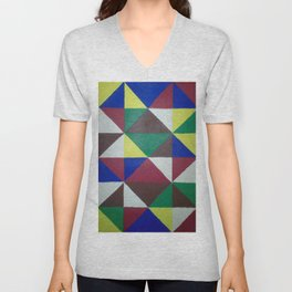Geometric Triangles Unisex V-Neck