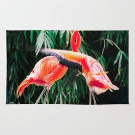 Flamingo Dance (Color) Rug