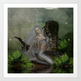 dreamy mermaid Art Print