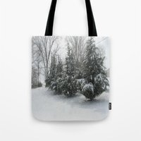 tennessee Tote Bags featuring Tennessee Snow by Orlando Gurrola