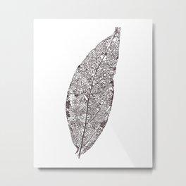 LEAF skeleton_06 Metal Print