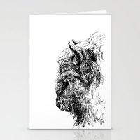 buffalo Stationery Cards featuring Buffalo by Ingrid Restemayer