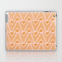 mala, african tribal pattern tangerine Laptop & iPad Skin