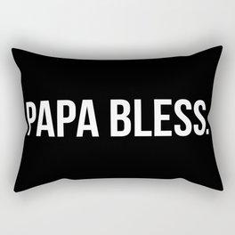 Papa Bless - version 2 - white Rectangular Pillow