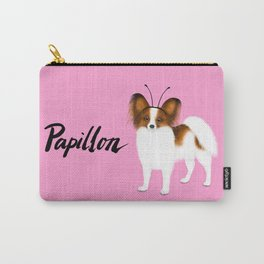 Papillon (Pink) Carry-All Pouch