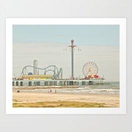 Pleasure Pier Galveston Fun Art Print