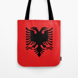 National flag of Albania - Authentic version Tote Bag