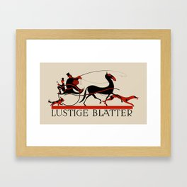 Lustige Blaetter (Funny pages) Framed Art Print