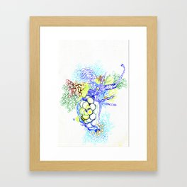 From Simplicity 2 Complexity series - Neural Network Framed Art Print