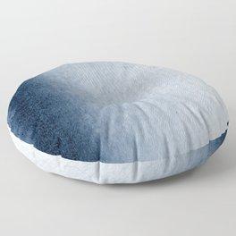 Indigo Vertical Blur Abstract Floor Pillow