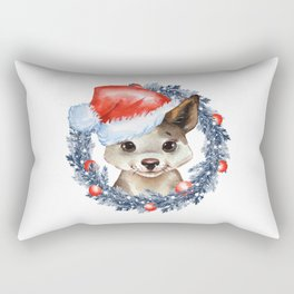 Christmas Puppy Rectangular Pillow