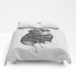 Sweet Black Pug Comforters
