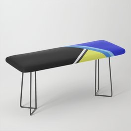 Happy Hues Modern Colorblock Pattern - Black Bench