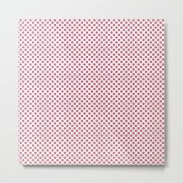 Rapture Rose Polka Dots Metal Print
