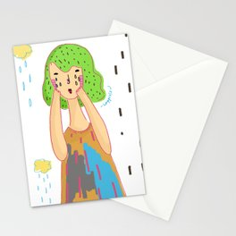 That feeling when it rains Stationery Cards