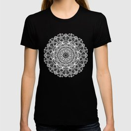 black and white mandala T-shirt