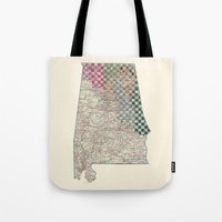 alabama Tote Bags featuring Alabama by judy lee