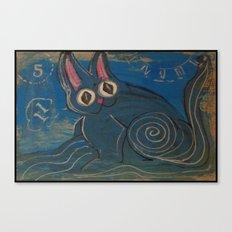 Wave Kitty Canvas Print