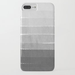 Brushstroke - Ombre Grey, Charcoal, minimal, Monochrome, black and white, trendy,  painterly art  iPhone Case