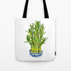 Lucky Bamboo in Porcelain Bowl Tote Bag