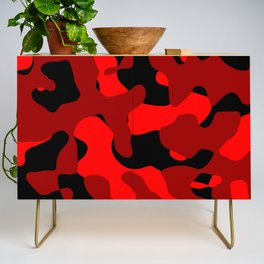 Black and Red Camo abstract Credenza