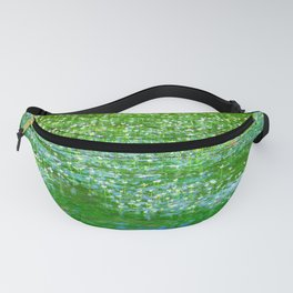 Starry flowers on the water Fanny Pack