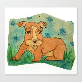 Frank the Puppy Canvas Print