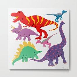 Dinosaur Domination - Light Metal Print