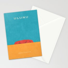 Uluru Ayers Rock Retro Tourism Stationery Cards