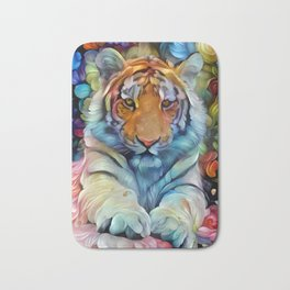 Painted Tiger Bath Mat