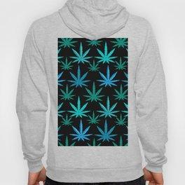 Marijuana Teal Turquoise Weed Hoody