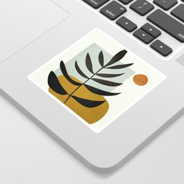 Soft Abstract Large Leaf Sticker