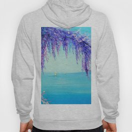 Wisteria by the sea Hoody