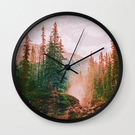 Athabasca Falls Wall Clock