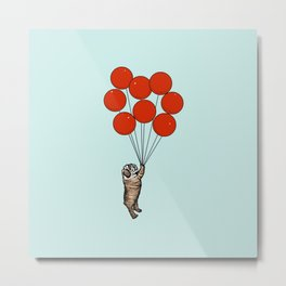 I Believe I Can Fly English Bulldog Metal Print