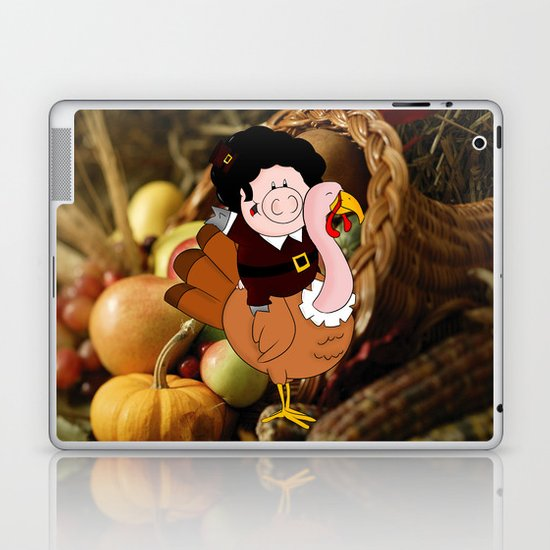 Thanksgiving turkeys Laptop & iPad Skin