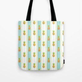 Vintage Glitter Pineapples Tote Bag