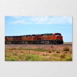 Orange BNSF Engines Canvas Print