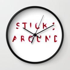 Stick Around Wall Clock