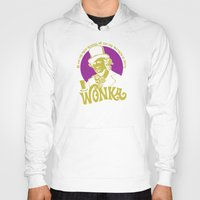 willy wonka Hoodies featuring Willy W quote v2 by Buby87