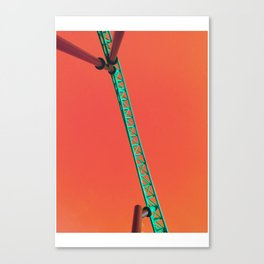 Teal Coaster Canvas Print