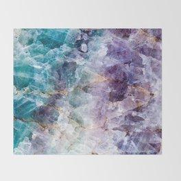 Quartz Stone - Blue and Purple Throw Blanket