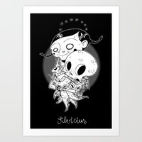 Octopus lover Art Print