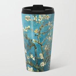 Blossoming Almond Trees, Vincent van Gogh. Famous vintage fine art. Travel Mug