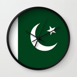 The National Flag of Pakistan - Authentic Version Wall Clock