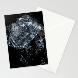 Clear Crumpled Plastic Stationery Cards