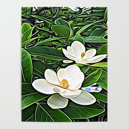 White Flowers of the Purest Essence Poster