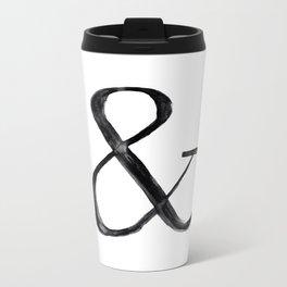 Ampersand watercolor Metal Travel Mug