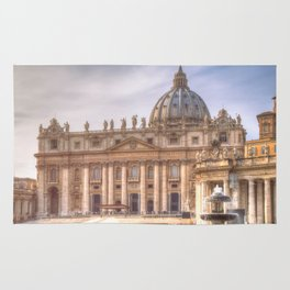 The Papal Basilica of the Saint Peter in the Vatican, Rome Rug